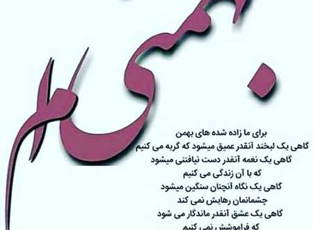 تولدت مبارک زاده بهمن