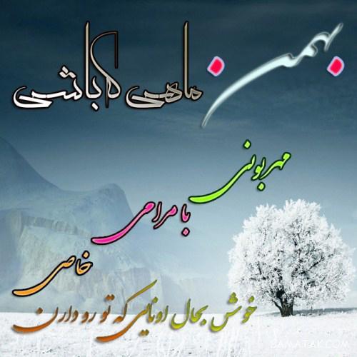عکس نوشته تبریک تولد بهمن