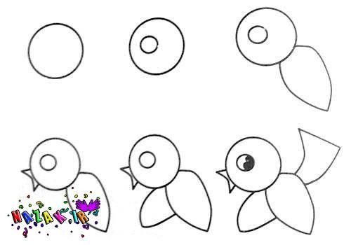نقاشی کودکانه جوجه